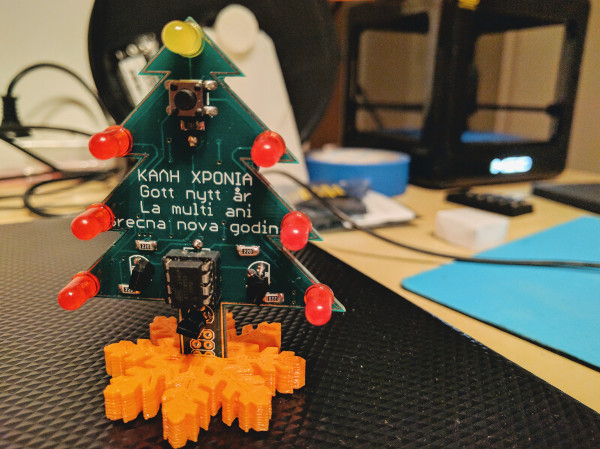 Christmas PCB ornament
